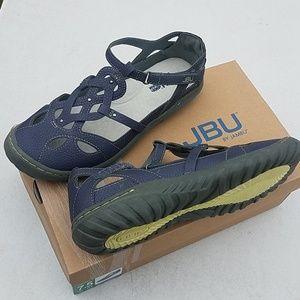JBU by Jambu Sydney Womens Flat Sandals Memory Foam Gray Sizes 7 7.5 8 8.5 9 10